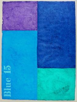 Blue 15 Acryl auf Büttenpapier 2018
