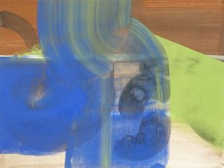 Abbildung: Sabine Herrmann, Martiny 3, Pigmente, Acryl auf Aquarellkarton, 2010