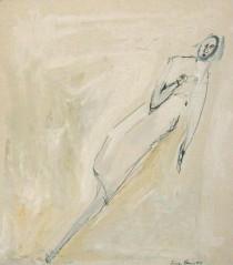 Sandra Becker, Flug in die Welt, 2014, Aquarell, Tusche, Wandfarbe auf Papier.