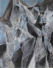 Siegfried Kühl, Gletscher, 1961 Gouache