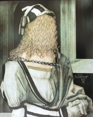 Martin Schwarz Der verhüllte Dürer Lithografie 1977