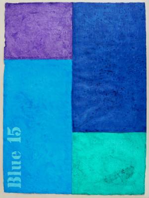 Blue 15 Acrylfarbe auf Büttenpapier 2018