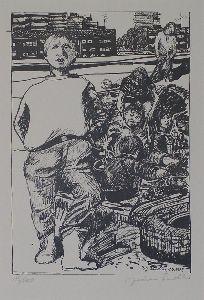 Stadtrandkinder,   Aus der Mappe: Die Stadt II