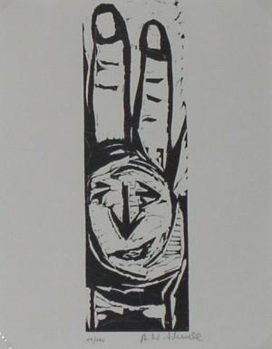 Handgesicht      Aus der Serie: Berliner Malerpoeten